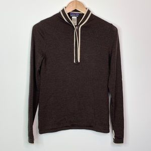 Patagonia Merino Wool Zip V Neck Sweater